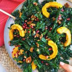 Healthy Fall Harvest Salad: the perfect salad for the fall season. Filled with healthy in-season produce and yummy flavors! #saladrecipe #fallsalad | www.jillzguerin.com