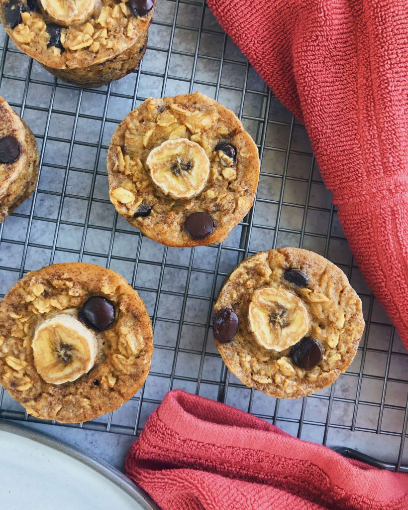 Banana Chocolate Chip Oatmeal Muffins: Deliciously moist and tasty oatmeal muffins made with only simple, healthy ingredients. #healthymuffins #healthybreakfast | www.jillzguerin.com