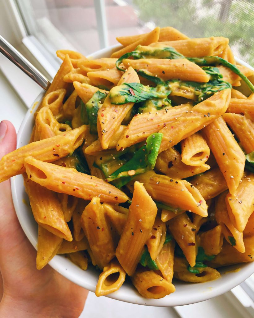 Dairy-Free Pumpkin Pasta: A yummy sauce made with only clean ingredients and so delicious! #healthysauce #pumpkinsauce   www.jillzguerin.com