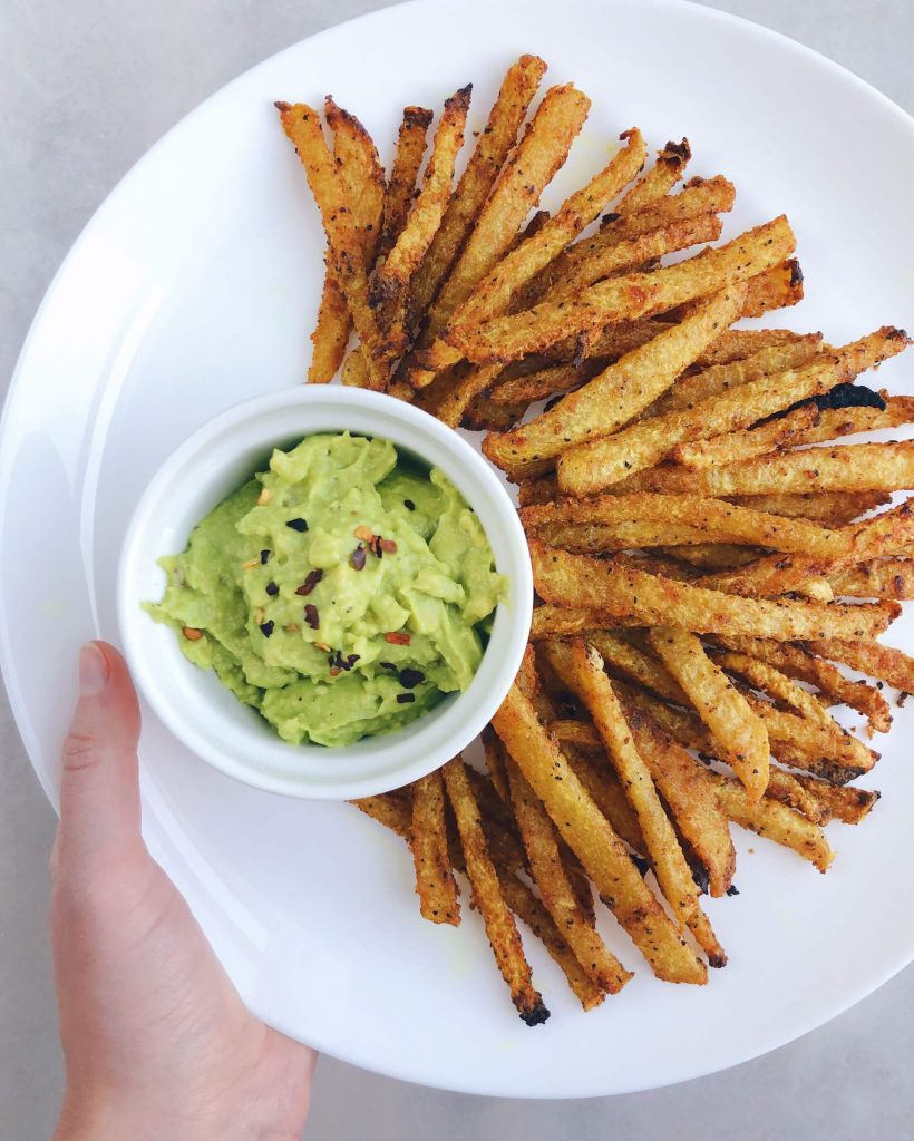 Healthy Jicama Fries: a unique and healthy spin on traditional fries. #healthyfries #jicama | www.jillzguerin.com