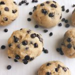 Mint Chocolate Chip Cookie Dough Balls! These sweet little treats are free of gluten and dairy, are vegan and don't require any baking! #nobakedesserts #healthydesserts | www.jillzguerin.com