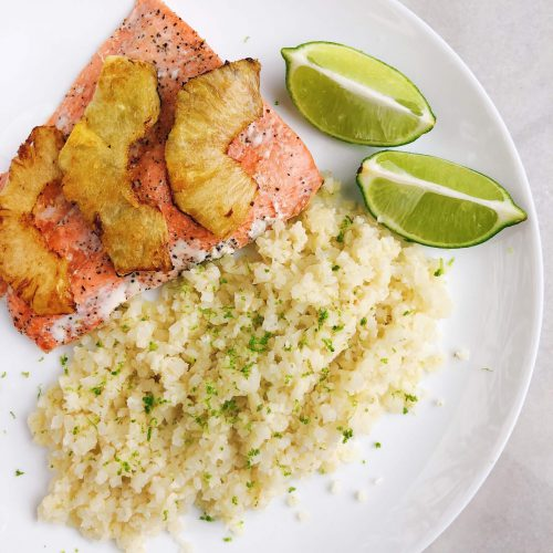 Coconut Lime Cauliflower Rice: such a delicious, healthy and easy side dish to make! #healthyfood #healthyrecipe #easyrecipe | www.jillzguerin.com