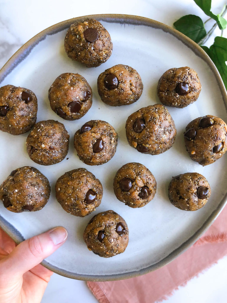 5 Ingredient Energy Snack Balls: A nourishing, wholesome snack filled with healthy fats, protein, and fiber! #healthysnack #nobakerecipe | www.jillzguerin.com