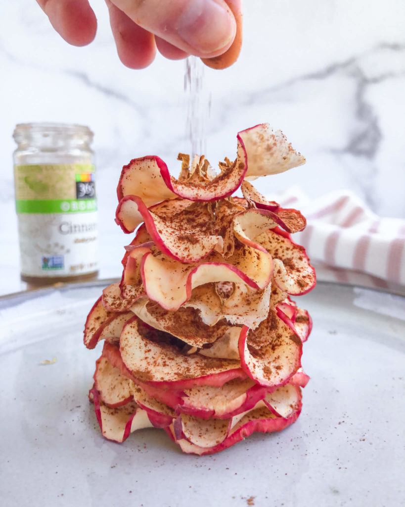 Healthy Apple Chips: The perfect, yummy snack for everyone, including kids! No sweeteners or unneeded ingredients. #healthysnack | www.jillzguerin.com