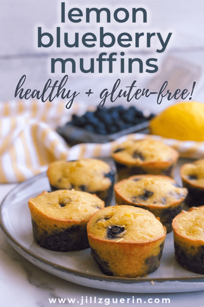 Lemon Blueberry Muffins: A refreshing and healthy lemon blueberry muffin that's so perfect for the morning or an afternoon snack. Made with only the best ingredients! #healthymuffins #healthybaking   www.jillzguerin.com