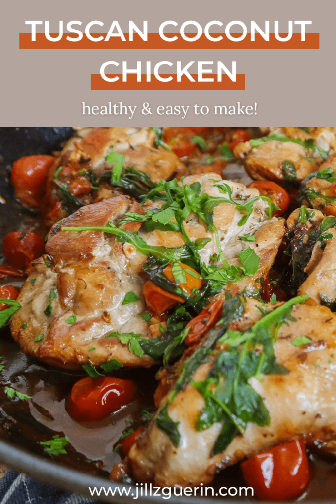 Tuscan Coconut Chicken: healthy and easy to make! | www.jillzguerin.com