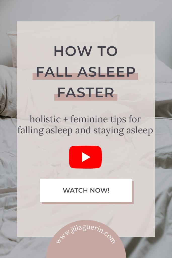 Holistic + feminine tips for falling asleep and staying asleep. | www.jillzguerin.com